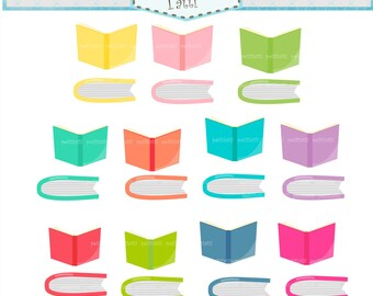 ON SALE Books Clip Art / Books Clipart. Open Book Clip Art, Book Clipart, Reading Clip Art, Classroom School Study Back to School, Student