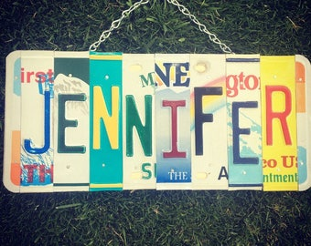 JENNIFER. Girls name. Girls room decor. Dorm room decor. Girls birthday gift. Girls nursery decor. Baby girls name. Personalized sign.