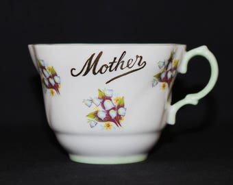 Royal Dover MOTHER Tea Cup with Bluebells