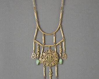 Vintage Asian Festoon Necklace Bib Necklace