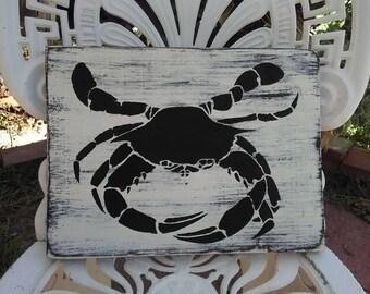 Crab shack, crab decor, beach decor, beach sign, crab sign, crab wall art, beach art, beachy boho, nautical beach sign, surf sign,