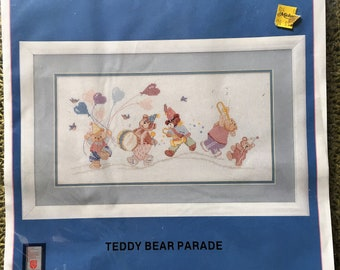 Teddy Bear Parade Counted Cross-Stitch Kit