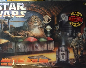 AMT Star Wars Jabba the Hutt throne room model kit sealed