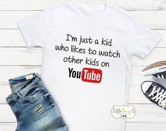 YouTube Kid (White) Crew neck T-Shirt