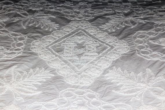 White Bedspread Circa 1926 Copy of 1829 Munroe Tavern Lexington Antique