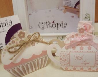 Teapot favour, cupcake favour, tea party, party favour, favour boxes, party, guest gift, table decorations