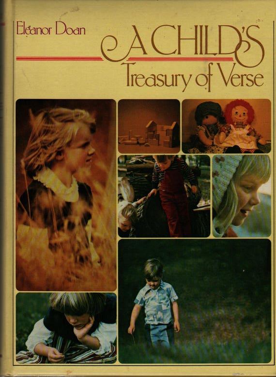 A Child's Treasury of Verse + Eleanor Doan + Nancy Munger + 1977 + Vintage Kids Book