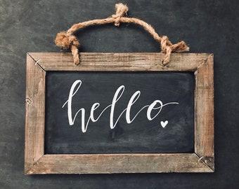 "Chalkboards ""Hello"""