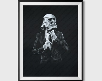 Smart trooper, Star Wars Art Screen printed poster, Storm trooper poster, birthday gift for boyfriend, college student gift, Christmas gift