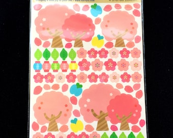 Japanese Stickers  Cherry Blossoms Sakura Traditional Japanese (S294)