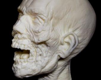 WALKING DEAD Head sculpture (Unpainted)