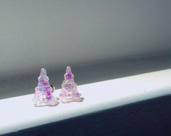 Glittery Eiffel Tower earrings