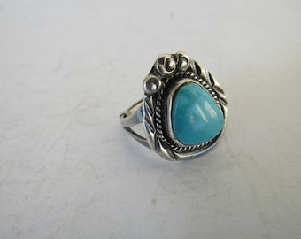Sterling Turquoise Ring Sz.5 1/2