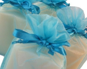 Eucalyptus and Spearmint Handmade Cold Process Soap Bar, 4oz-phthalate free,turquoise,vegan,natural,organic sustainable palm oil,organza bag