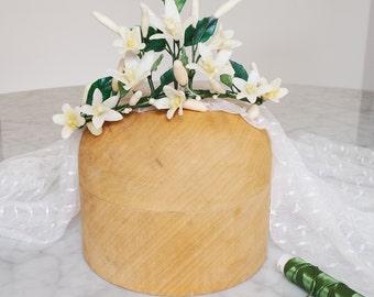 Wedding crown, Headpiece wedding, Bride crown, Wax flower crown, Wax crown, Bride headpiece, Bridal floral crown, Bridal vine, Bridal tiara