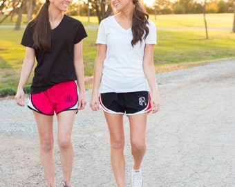 Monogrammed Running Shorts | Monogrammed Shorts | Monogram Shorts | Running Shorts | Running Gear | Cheer Shorts | Work Out Shorts