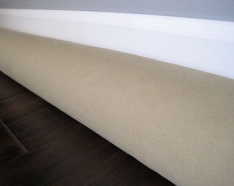 XXL canvas draft guard, custom length door draft stopper, draft snake, extra wide size