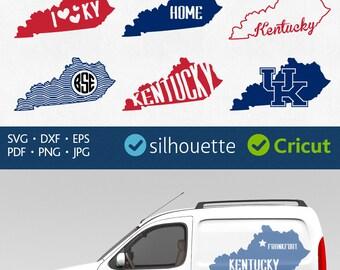 KENTUCKY SVG Kentucky STATE Svg Kentucky Clip art Svg Kentucky Shape Svg Kentucky Monogram Frame Svg Kentucky outline Svg Cut Files Cricut