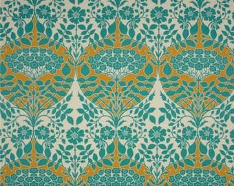 54025 - Joel Dewberry Botanique Leafy damask in Teal color - 1/2 yard