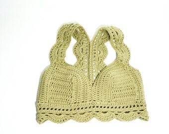 Lace Racerback crochet crop top