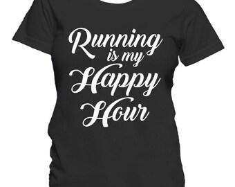Running Is My Happy Hour Runner Women's T-Shirt