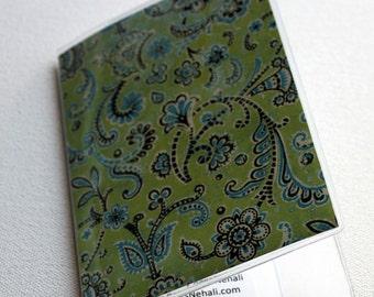 Blue Green - Swirls - Passport Cover / Wallet / Protector