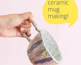 Saturday 9 June workshop: Handbuild your own ceramic mug 1pm - 4pm