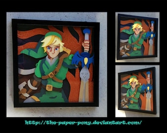 "12"" x 12"" Link, Hero of Time"