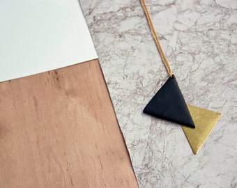 Vilmos Necklace · Geometric Necklace · Long Necklace · Gifts for them · Geometric Jewellery · Modern necklace