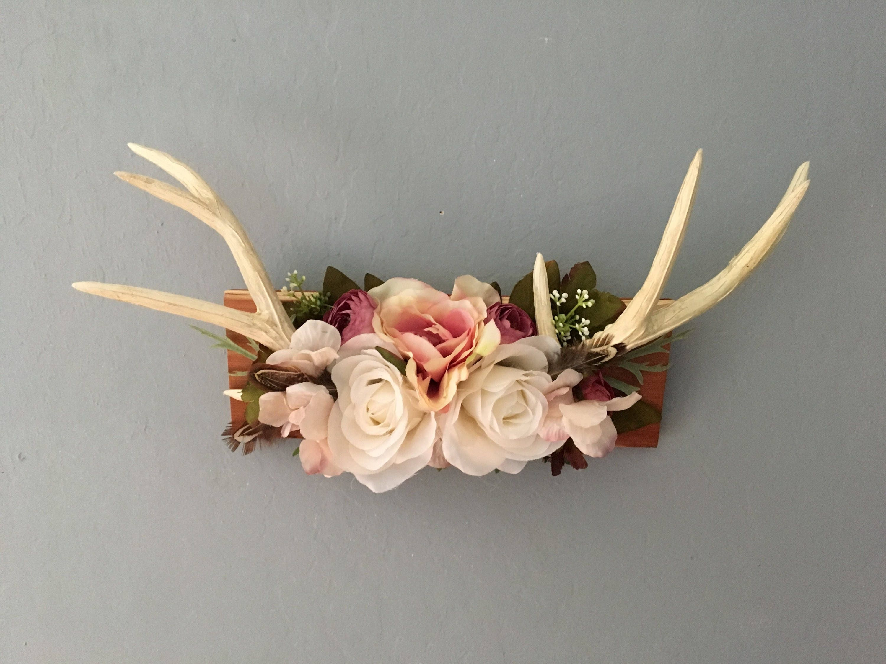 Faux taxidermy antlers floral antlers faux floral antlers zoom izmirmasajfo