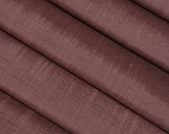 Dusty rose mauve colored Tsumugi pongee silk - by the yard