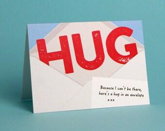 Hug In An Envelope - Greetings Card