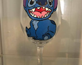 Friendly Monster Hand Painted Glass
