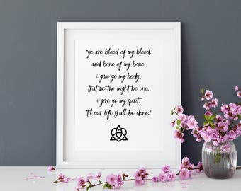 Blood of My Blood, Outlander, Outlander Gift, Jamie Fraser, Outlander Fan, Outlander Art, Outlander Quote, Printable