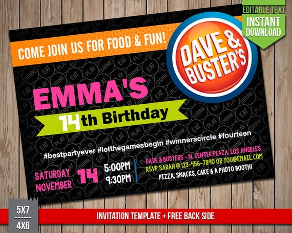dave and busters nutrition pdf