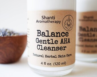 Gentle AHA Cleanser - Glycolic AHA Cream Cleanser - Milk Cleanser - Alpha hydroxy acid - dry skin care - normal skin care