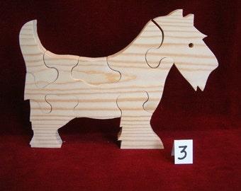 Scotty Dog Puzzle, Unfinished Pine