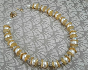 Big Swarovski Pearls & Crystals Necklace Set