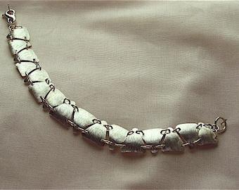 Fine silver, triangles bracelet