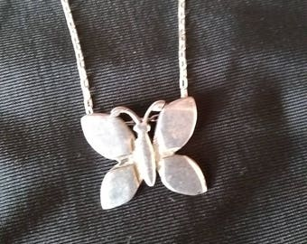 Sterling Butterfly Pendant