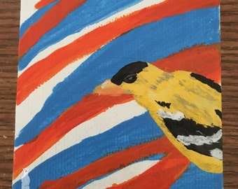 Mini Gold Finch Painting