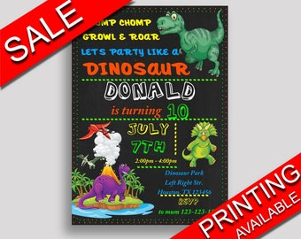 Dinosaur Birthday Invitation Dinosaur Birthday Party Invitation Dinosaur Birthday Party Dinosaur Invitation Boy Girl t-rex birthday IIUCH