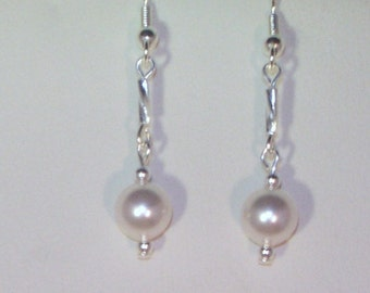 Swarovski Pearl Bridal Earrings - MADE TO ORDER in Any Color