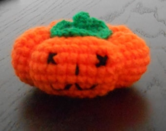 Small neon orange pumpkin that scary Halloween Special