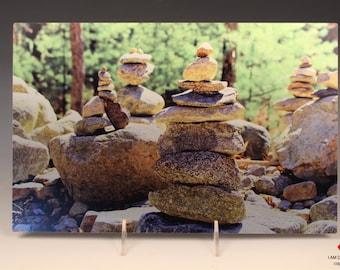 Zen Rocks on Brushed Aluminum