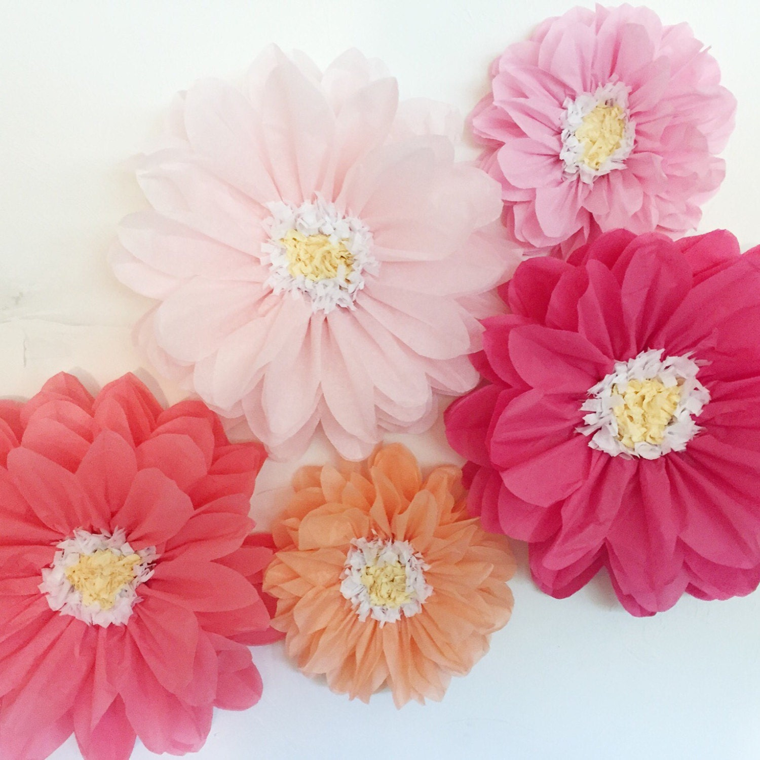 Wall Decoration Ideas With Crepe Paper Elegant Tissue Paper Flowers
