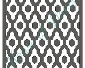 Geometric Ikat Stencil (2 part stencil) - 12x12