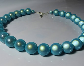 Turquoise Miracle Bead/glow bead Necklace or choker