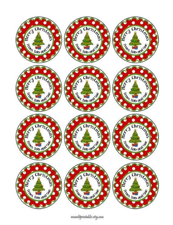 24 stickers christmas gift tag personalized christmas gift sticker