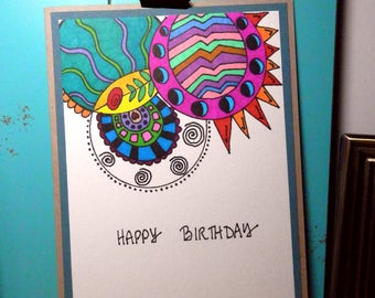 Birthday Card, Happy Birthday, Greeting Card, Handmade Original